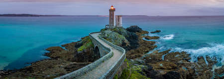 Petit minou lighthouse panorama long exposure in France Archivio Fotografico