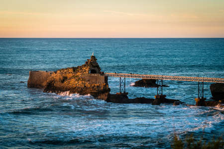 Pier in cote des basques in Biarritz in France