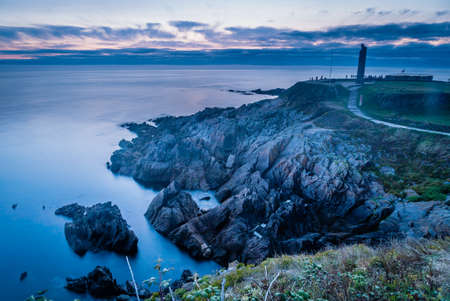 Saint Mathieux lighthouse and ruined church in France