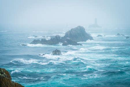 Stormy sea in Pointe du Raz in Bretagne, France