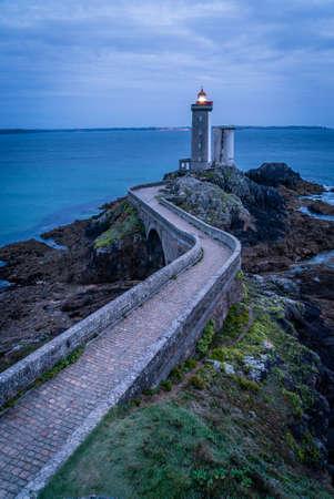 Petit minou lighthouse just after sunset in Bretagne