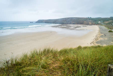 Trepasses bay in Brittany in France in the summer