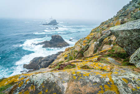 Raz point end of France in Brittany, France Archivio Fotografico