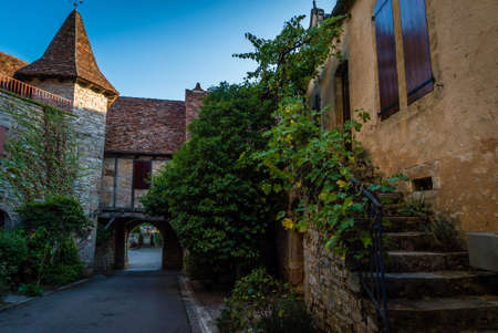 Loubressac old stone village in the Dordogne valley in France
