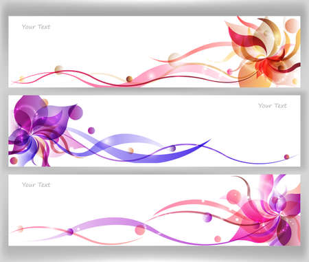 colorful flower vector background brochure template. Vector