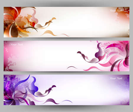 pink flower: abstract colorful background brochure template.