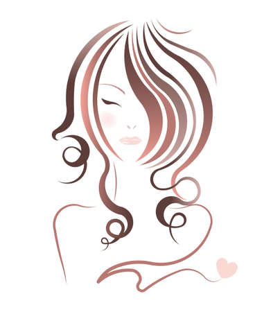 hairstyle: vector beautiful women hairstyles on white background Illustration