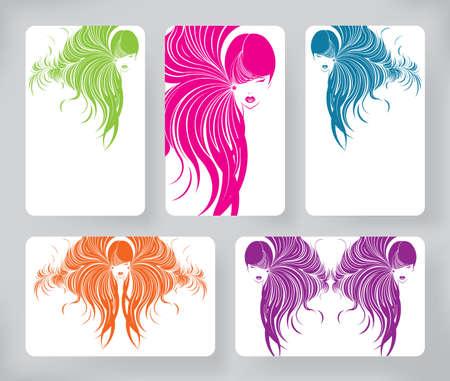 cabello largo y hermoso: