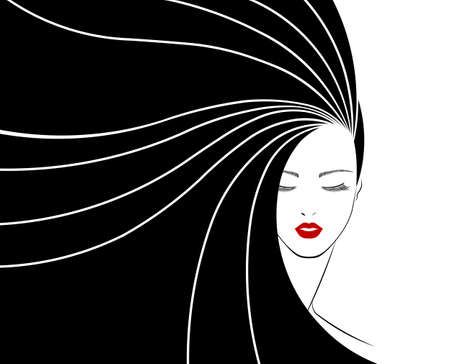 ikona stylu długie włosy