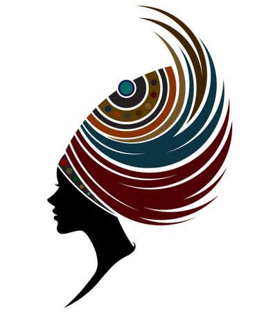 illustratie van de Afrikaanse vrouwen silhouet fashion modellen op een witte achtergrond