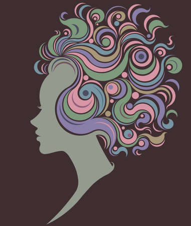 lady silhouette: illustration of women silhouette icon, women face