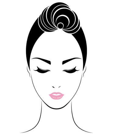 cabello corto: icono de estilo de pelo corto