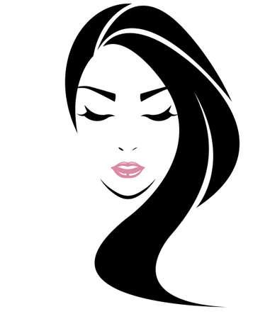 cheveux longs icône de style
