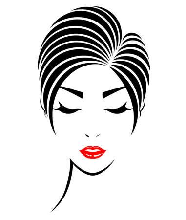 cheveux courts icône de style