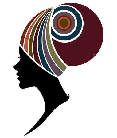 illustration vector of African women silhouette fashion models, beautiful black women on white background Illustration