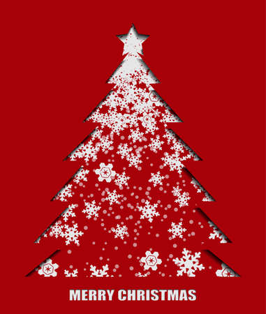 Illustration of snowflake pattern in Christmas tree shape. Ilustrace