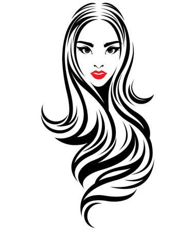 Beautiful women, logo women face makeup on white background, vector Illustration