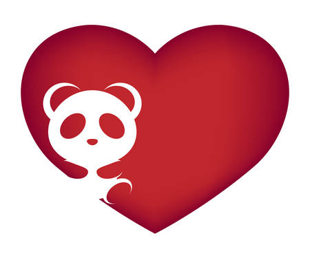 Illustrations of panda action on white background, Animals vector of isolated a cute panda icon