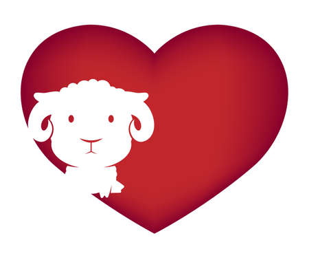 Illustrations of sheep action on white background, Animals vector of isolated a cute sheep icon Illustration