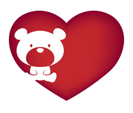 Illustrations of bear action logo on white background, Animals vector of isolated a cute bear icon Ilustração