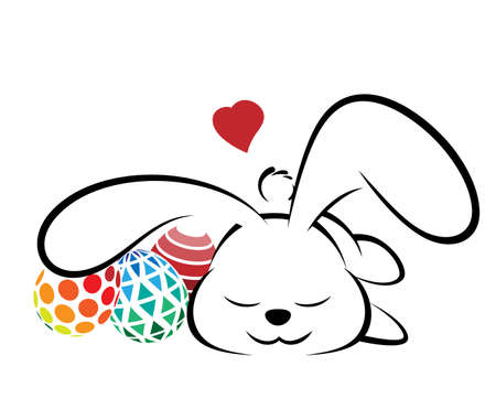 Rabbit logo illustration on white background.