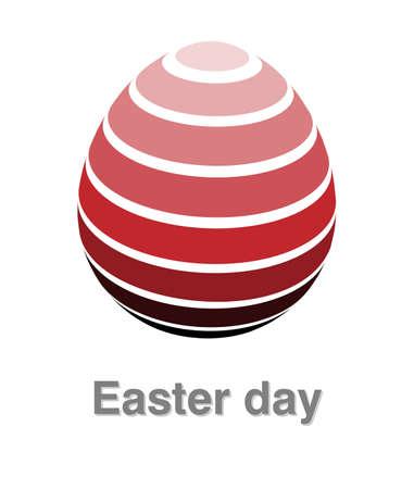Illustrations of easter egg logo on white background, Easter egg vector of isolated a cute egg icon Çizim