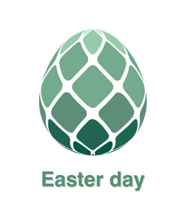 Illustrations of easter egg logo on white background, Easter egg vector of isolated a cute egg icon Stock Vector - 125665397