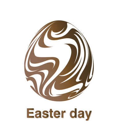 Illustrations of easter egg logo on white background, Easter egg vector of isolated a cute egg icon Stock Vector - 125665403