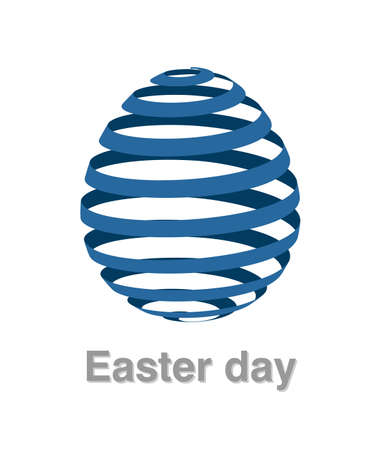 Illustrations of easter egg logo on white background, Easter egg vector of isolated a cute egg icon Stock Vector - 125665405