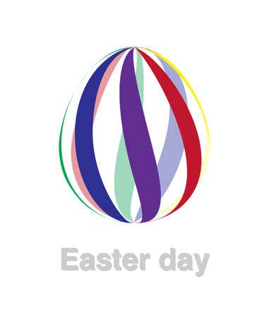 Easter egg logo illustration on white background.