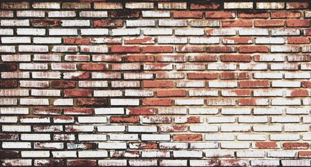 stained old brick wall background, texture Stock Photo
