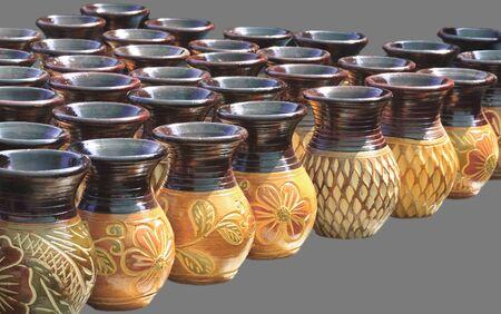 Earthenware handmade old clay pots, Thailand  photo