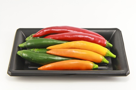 Chili pepper isolated on white background. Stock Photo