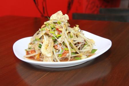 green papaya salad thai food. Stock Photo - 18541015