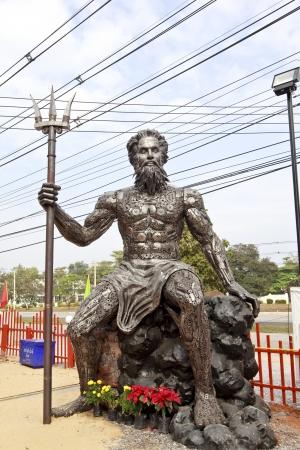 poseidon: Poseidon with Trident made of iron .
