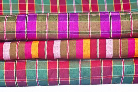 Handmade woven fabrics in thai