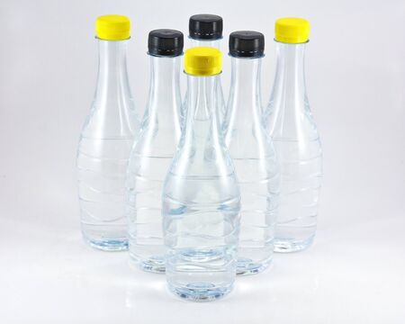 purified: Stock image of purified water bottle over white background Stock Photo