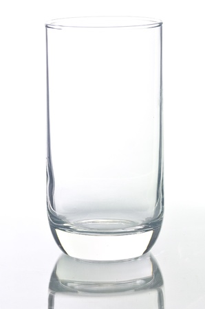 Empty glass isolated on a white background. Stock Photo