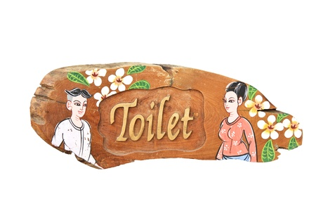 Man and Woman wooden  toilet sign  Stock Photo - 19979980