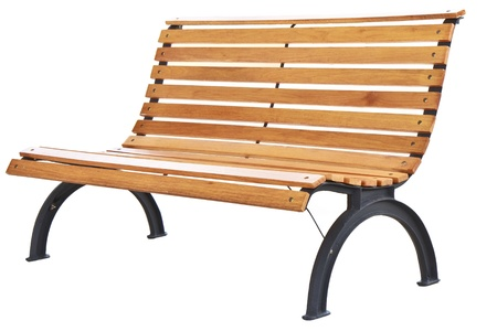 Beautiful bench separately on a white background  Foto de archivo