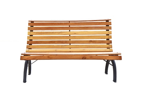cast in place: Beautiful bench separately on a white background  Stock Photo