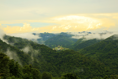 mountain panorama form khao yai,Thailand. photo