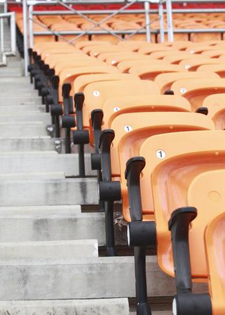 Close up stadium and seat