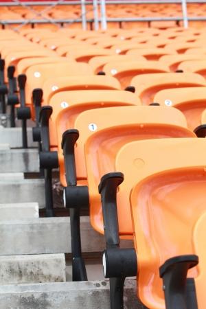 sequential: Close up stadium and seat