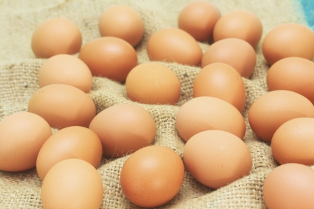 Fresh brown eggs from farm Stock Photo - 23378523