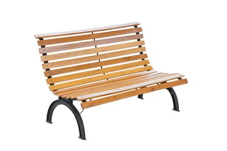 bench park: banco de parque aislado en blanco. Foto de archivo