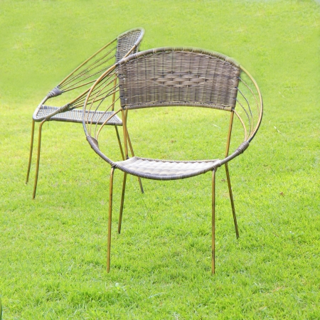 Chairs made of rattan photo