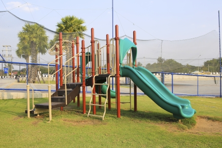 children playground in the park. photo
