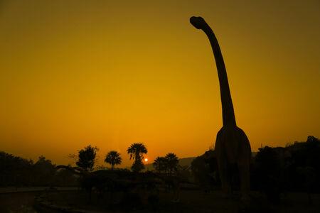 tyrannosaur: silhouettes of dinosaurs.