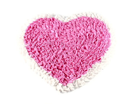 clean heart: Pink carpet on white background.